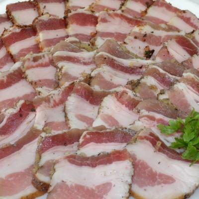 Соленое сало и мясной тартар